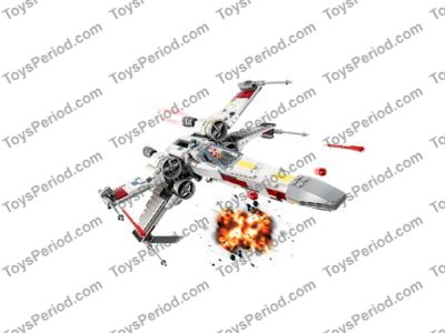 LEGO 75218 X-Wing Starfighter Set Parts Inventory and