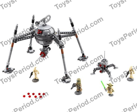 LEGO 75142 Homing Spider Droid Set Parts Inventory and