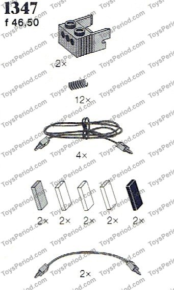 LEGO 1347 Leads (4.5v), Spirals Set Parts Inventory and