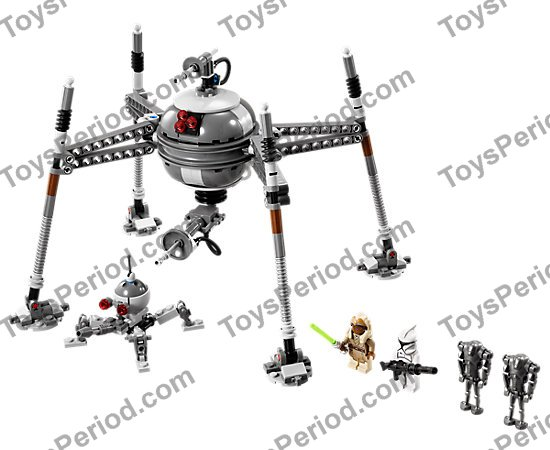 LEGO 75016 Homing Spider Droid Set Parts Inventory and