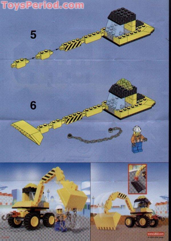 Lego 6474 4-wheeled Front Shovel Set Parts Inventory And