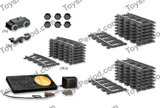 LEGO K4548 9-Volt Train Accessory Collection Set Parts