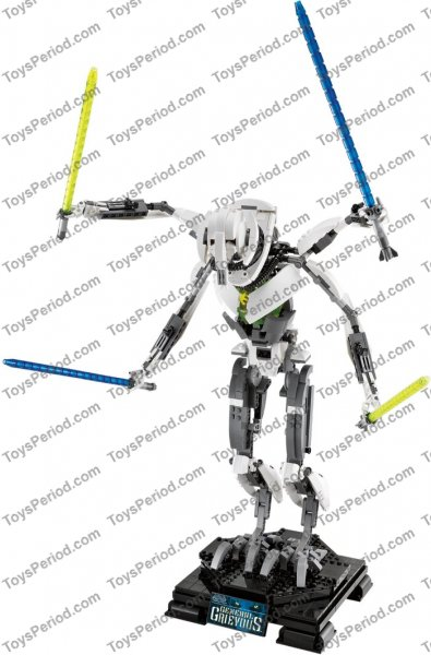 LEGO 10186 General Grievous Set Parts Inventory and