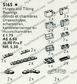 LEGO 5165 Hinges, Couplings and Tilting Bearings Set Parts