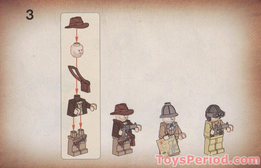 LEGO 7620 Indiana Jones Motorcycle Chase Set Parts