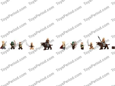 LEGO 79012 Mirkwood Elf Army Set Parts Inventory and