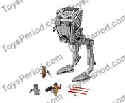 LEGO 75153 AT-ST Walker Set Parts Inventory and