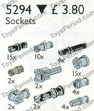 LEGO 5294 Toggle Joints and Connectors Set Parts Inventory