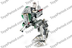 LEGO 7250 Clone Scout Walker Set Parts Inventory and