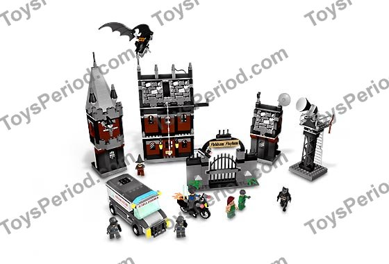 LEGO 7785 Arkham Asylum Set Parts Inventory and