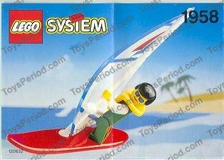 lego 1958 windsurfer set