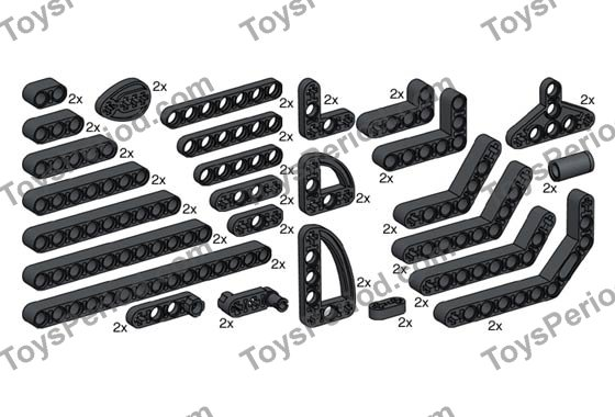 LEGO 10072 Technic Beams Set Parts Inventory and