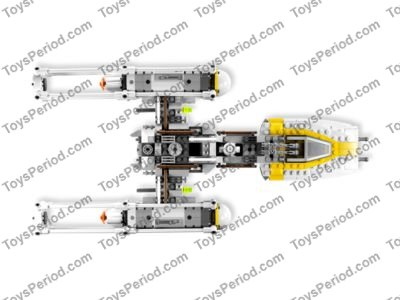 LEGO 9495 Gold Leader's Y-wing Starfighter Set Parts
