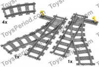 LEGO 7895 Switching Tracks Set Parts Inventory and