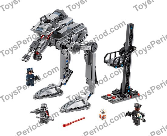 LEGO 75201 First Order AT-ST Set Parts Inventory and
