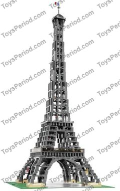 LEGO 10181 Eiffel Tower 1:300 Scale Set Parts Inventory