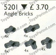 LEGO 5201 Angle Bricks Set Parts Inventory and
