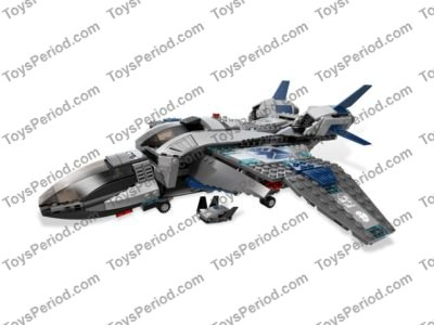 LEGO 6869 Quinjet Aerial Battle Set Parts Inventory and