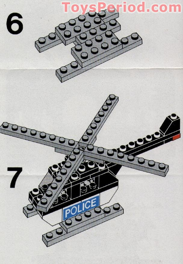 LEGO 628-2 Police Helicopter Set Parts Inventory and