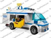 LEGO 7286 Prisoner Transport Set Parts Inventory and