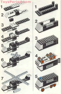 LEGO 585 Police Headquarters Set Parts Inventory and ...