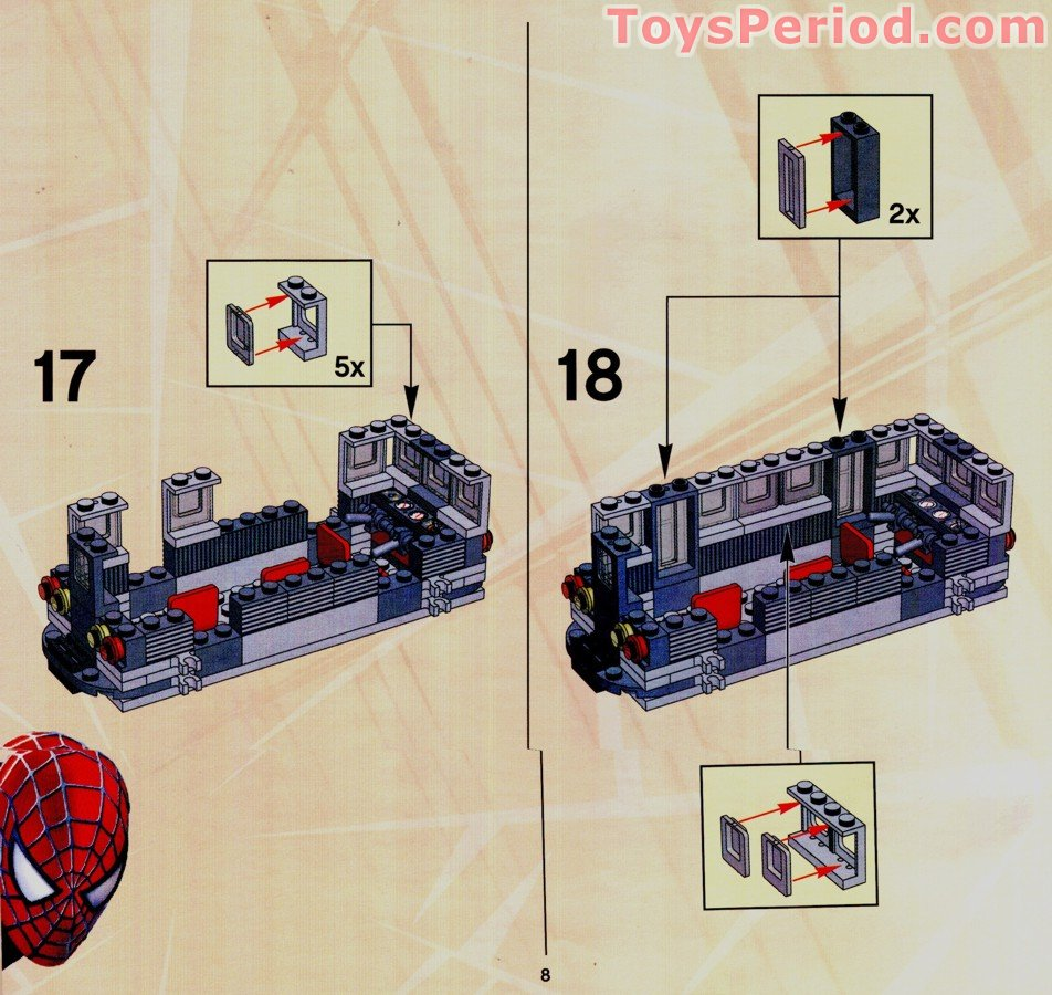 Lego 4855 Spider Man S Train Rescue Set Parts Inventory