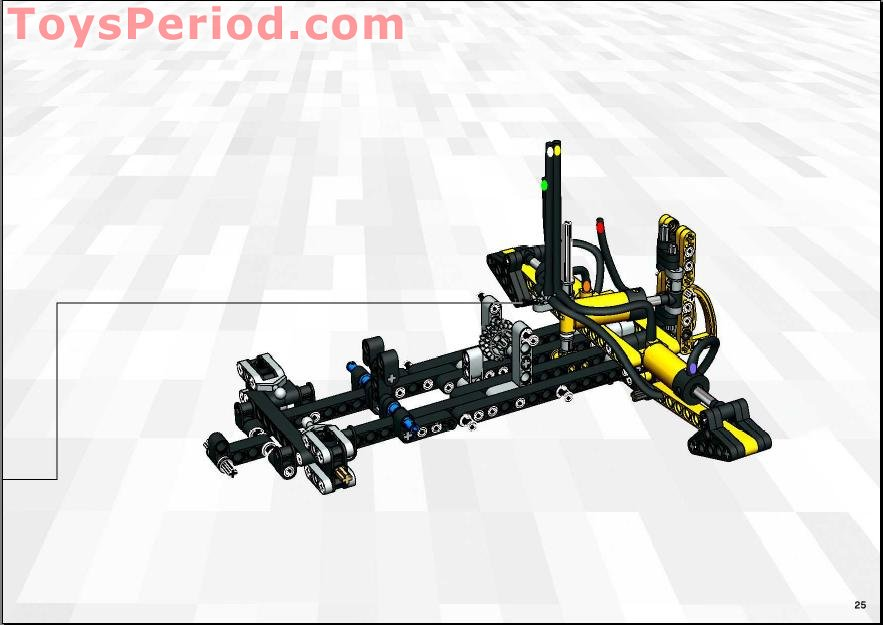 LEGO 8455 Back-hoe Loader (Backhoe) Set Parts Inventory