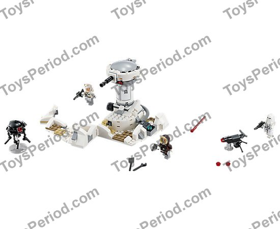 LEGO 75138 Hoth Attack Set Parts Inventory and