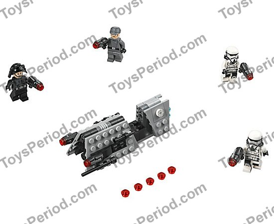 LEGO 75207 Imperial Patrol Battle Pack Set Parts Inventory