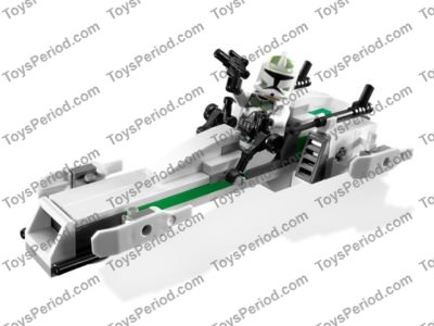 LEGO 7913 Clone Trooper Battle Pack Set Parts Inventory