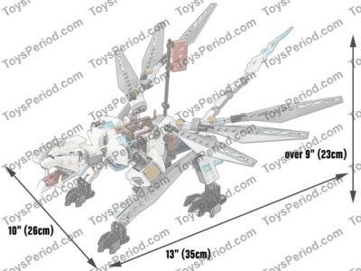 LEGO 70748 Titanium Dragon Set Parts Inventory and