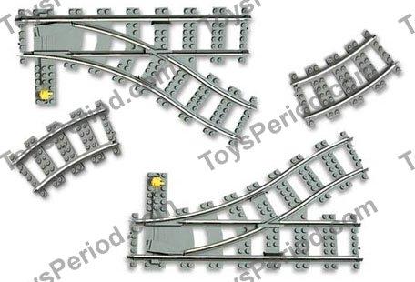 LEGO 4531 Manual Switching Tracks, Turnouts Set Parts