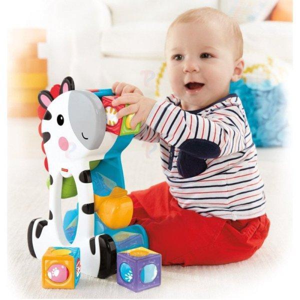 Fisher Ruchome Klocki Zebra Nowo Cgn63 1800222431 - Sklep Internetowy Toysplanet.pl