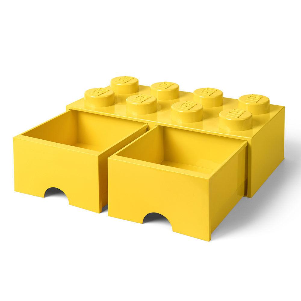tiroir de rangement lego 8 jaune