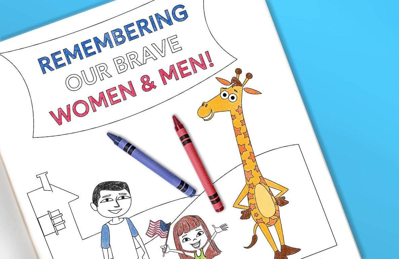 Memorial Day Coloring Sheet Printable