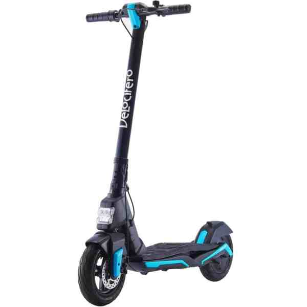 MotoTec Mad Air 36v 10ah 350w Lithium Electric Scooter Blue