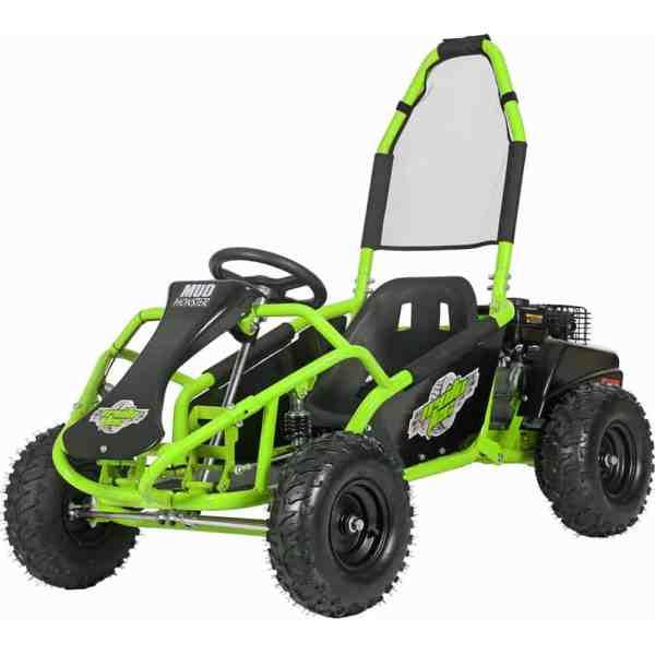 MotoTec Mud Monster Kids Gas Powered 98cc Go Kart Full Suspension Green