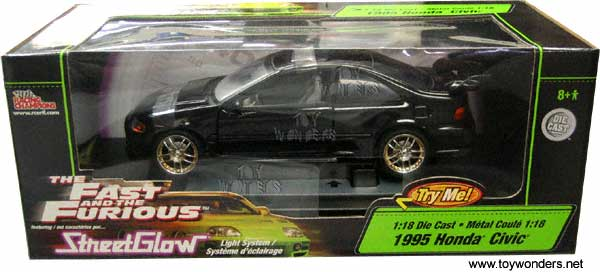 Custom And Fast Civic Black Honda Furious