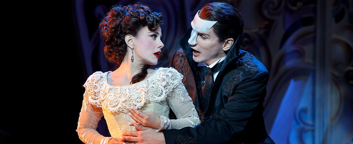 the Phantom looks longingly at Christine Daae