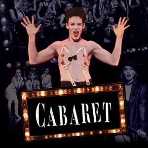 cabaret emcee shirtless with jazz hands