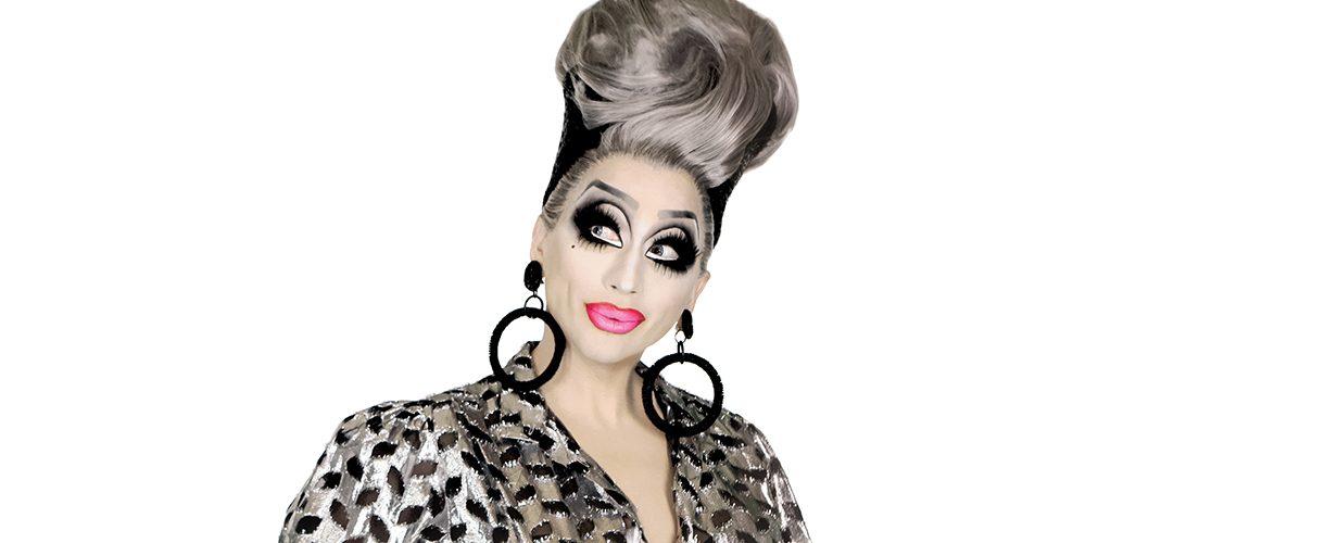 Drag queen Bianca Del Rio wears hoop earrings