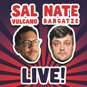 floating heads of sal vulcano and nate bargatze