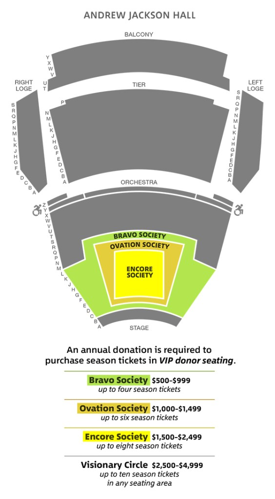 Encore Society Seat Map