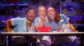 cast of waitress baking a pie