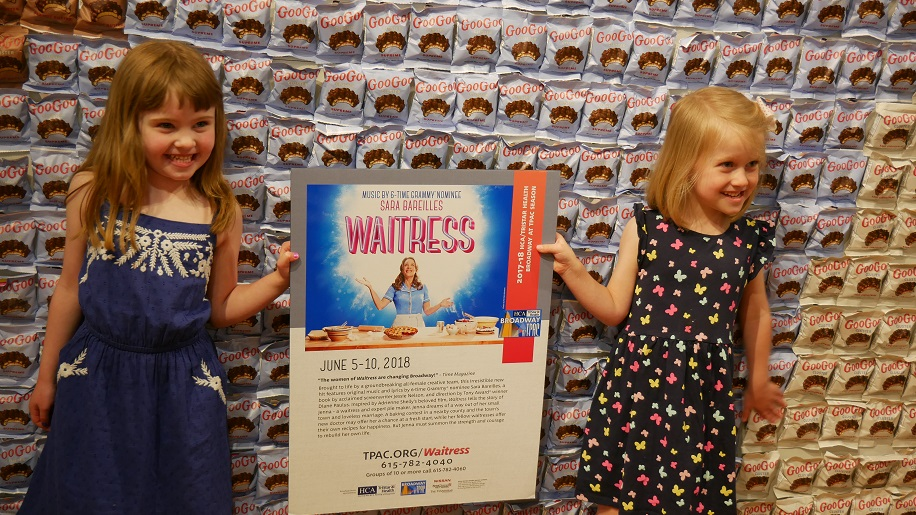 "Olivia James Graves and Ellie James to play the role of ""Lulu"" in Waitress."