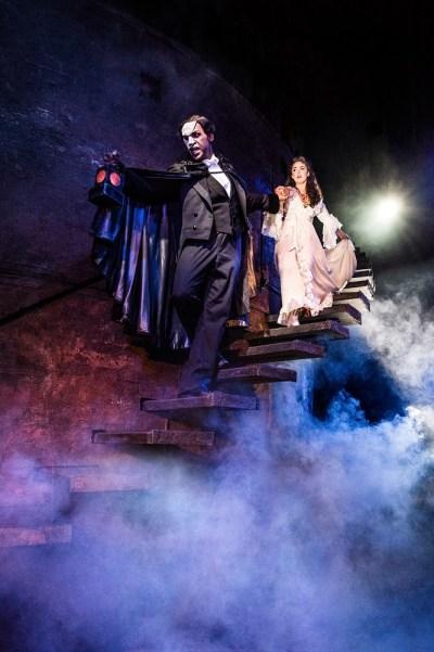 Quentin Oliver Lee as 'The Phantom' and Eva Tavares as 'Christine Daaé'