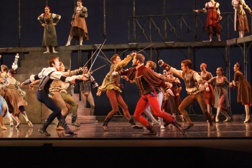 A fight scene in Nashville Ballet's Romeo and Juliet