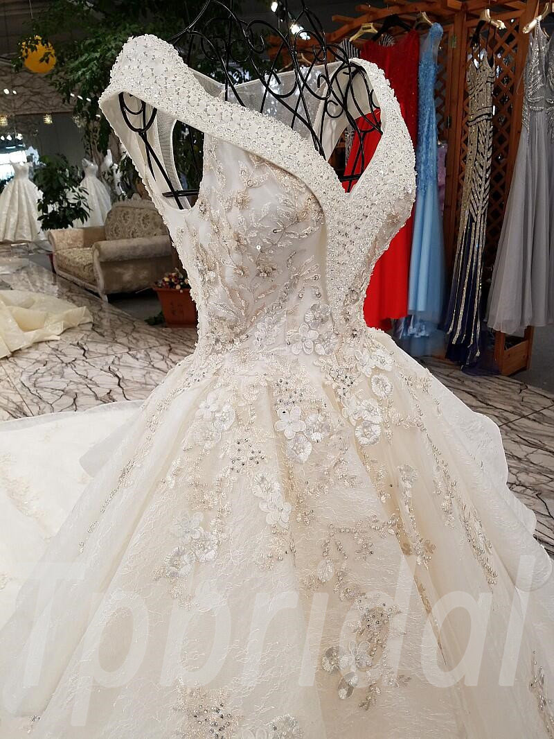 Low Back Wedding Dress Lace A Line Bridal Gown 2018 Spring • tpbridal