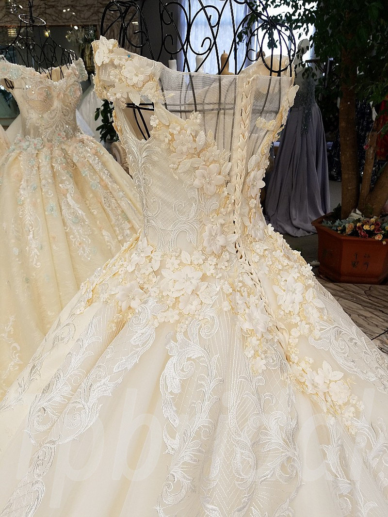 Wedding Dress With Train Ball Gown Princess Bridal Gown Sale • tpbridal