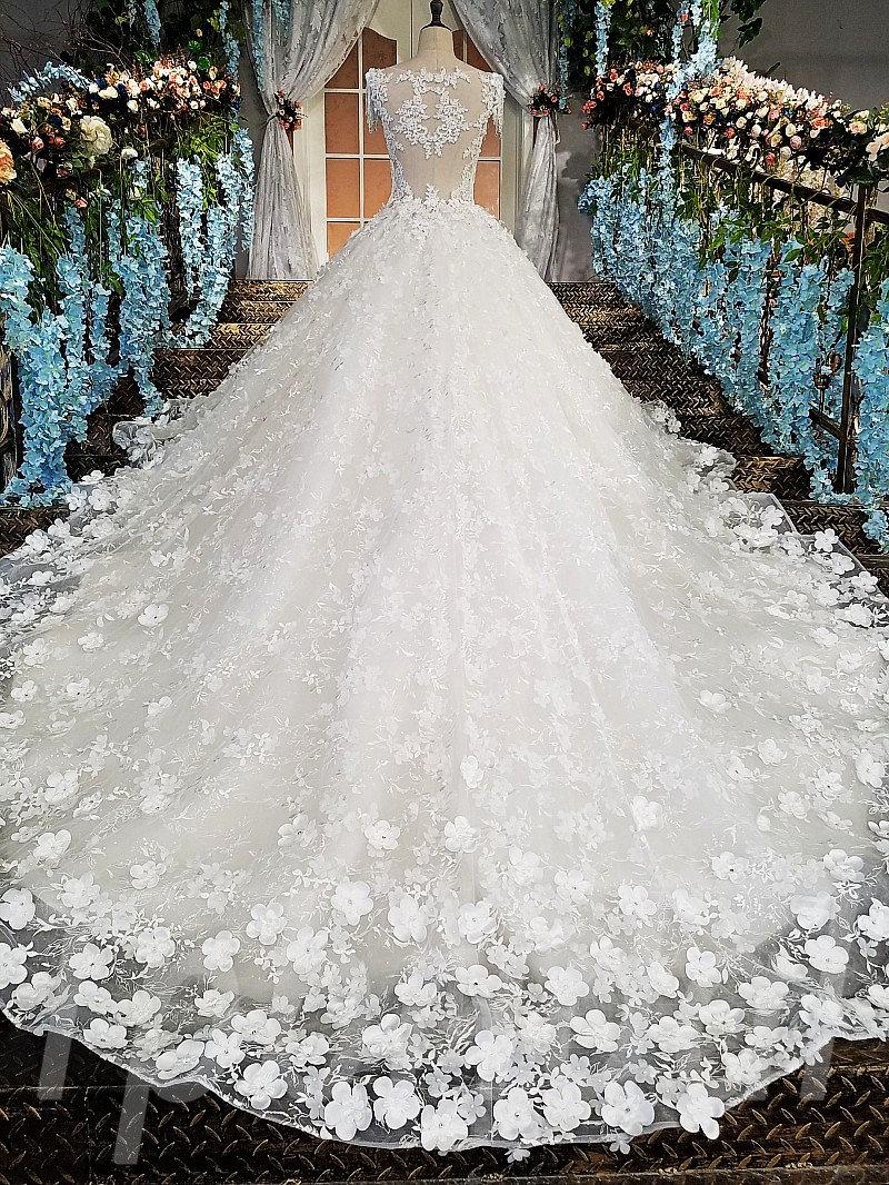 Bridal Dress 2018 Spring White Ball Gown Wedding Dress Online • tpbridal